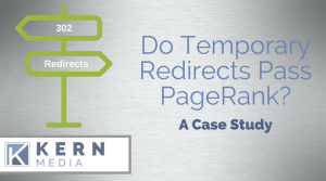 Case Study: Does a 302 Redirect Pass PageRank with Google?