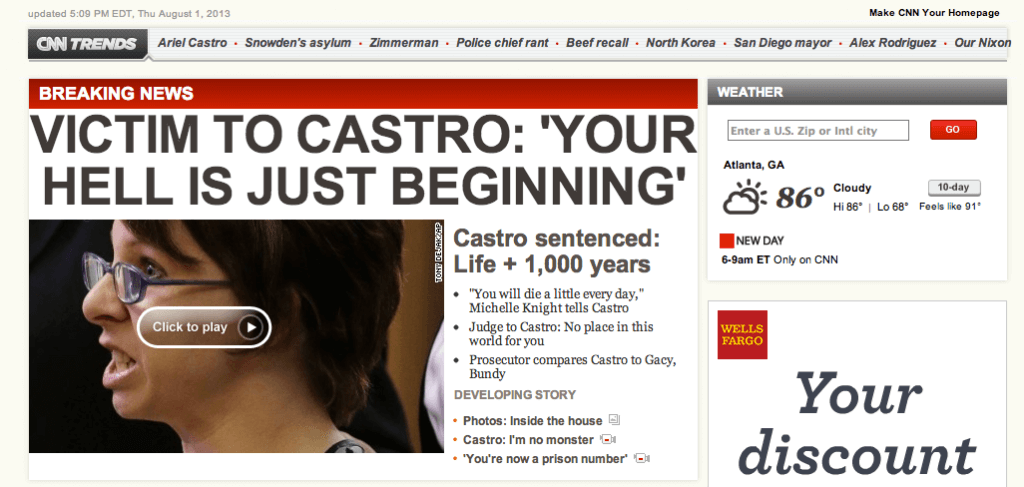 CNN Article: Castro Sentencing
