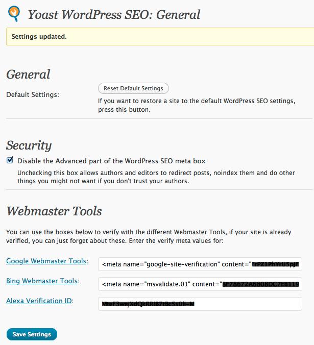 General Settings   Guide to Yoast WordPress SEO Plugin