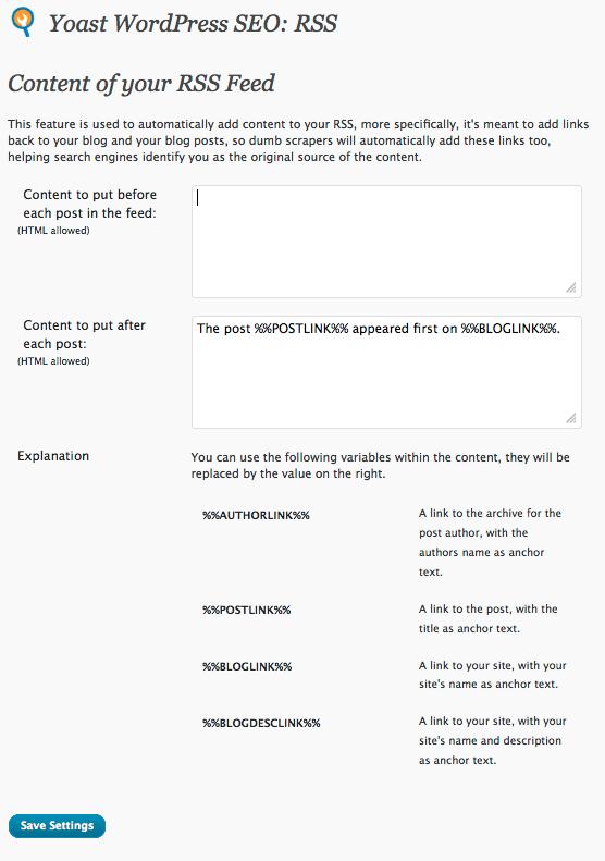 Guide to the Yoast Wordpress SEO Plugin (Sitewide Settings)